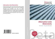 Bookcover of Alternative Liste Österreichs