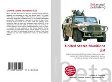 Bookcover of United States Munitions List