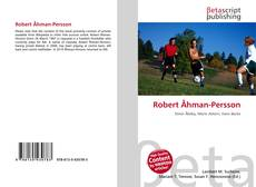 Bookcover of Robert Åhman-Persson