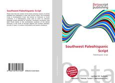 Bookcover of Southwest Paleohispanic Script