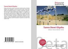 Capa do livro de Tanna Devei Eliyahu