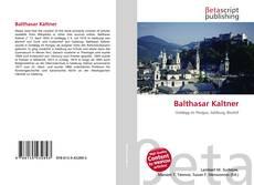 Buchcover von Balthasar Kaltner
