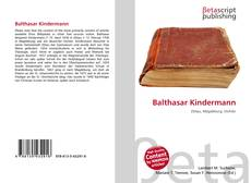 Bookcover of Balthasar Kindermann