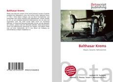 Couverture de Balthasar Krems