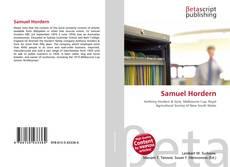 Couverture de Samuel Hordern