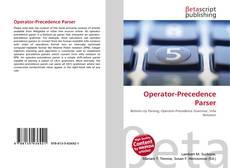 Buchcover von Operator-Precedence Parser