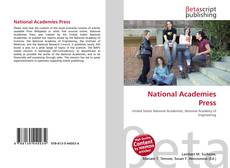 Bookcover of National Academies Press