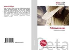 Bookcover of Altersvorsorge