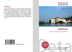 Bookcover of Altertum