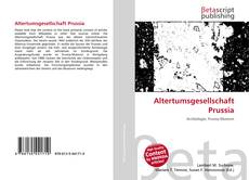 Bookcover of Altertumsgesellschaft Prussia