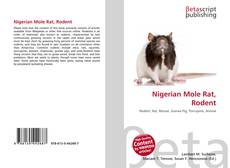 Bookcover of Nigerian Mole Rat, Rodent