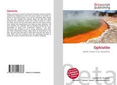 Couverture de Ophiolite