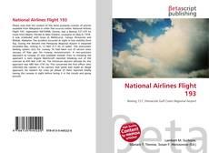 Capa do livro de National Airlines Flight 193