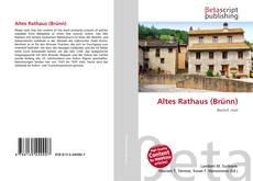 Bookcover of Altes Rathaus (Brünn)