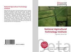 Capa do livro de National Agricultural Technology Institute