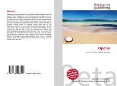 Bookcover of Opone