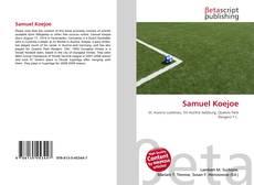 Samuel Koejoe kitap kapağı