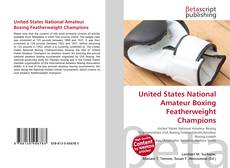 Обложка United States National Amateur Boxing Featherweight Champions