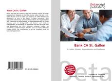 Capa do livro de Bank CA St. Gallen