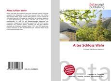 Bookcover of Altes Schloss Wehr