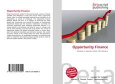 Bookcover of Opportunity Finance
