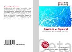 Bookcover of Raymond v. Raymond