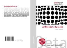 Capa do livro de Altfriesische Sprache