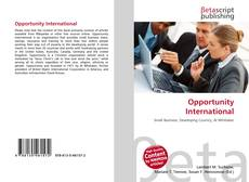 Bookcover of Opportunity International