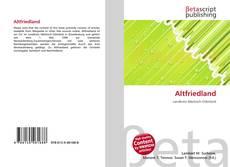 Capa do livro de Altfriedland