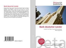 Capa do livro de Bank deutscher Länder