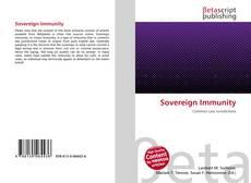 Sovereign Immunity kitap kapağı