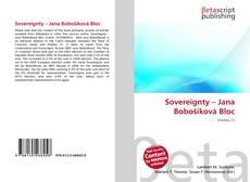 Bookcover of Sovereignty – Jana Bobošíková Bloc