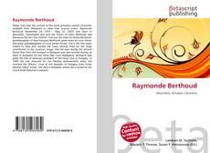 Borítókép a  Raymonde Berthoud - hoz