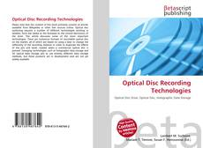Buchcover von Optical Disc Recording Technologies