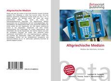 Altgriechische Medizin kitap kapağı