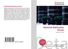 Bookcover of National Arbitration Forum