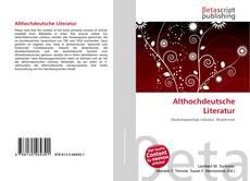 Bookcover of Althochdeutsche Literatur
