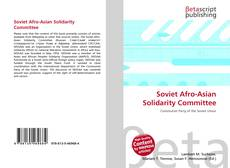 Bookcover of Soviet Afro-Asian Solidarity Committee