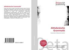Bookcover of Althebräische Grammatik