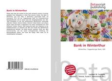 Bookcover of Bank in Winterthur