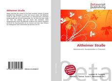 Capa do livro de Altheimer Straße