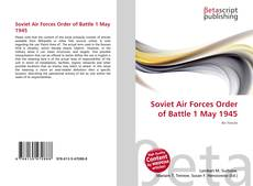 Copertina di Soviet Air Forces Order of Battle 1 May 1945