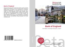 Bookcover of Bank of England