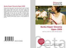 Bookcover of Banka Koper Slovenia Open 2009
