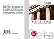 Bookcover of Bank von Griechenland