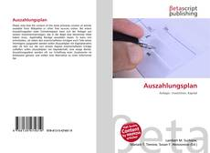 Bookcover of Auszahlungsplan