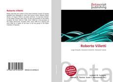 Buchcover von Roberto Villetti