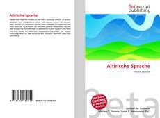 Altirische Sprache的封面
