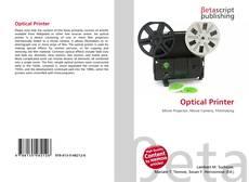 Portada del libro de Optical Printer