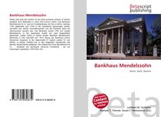 Bookcover of Bankhaus Mendelssohn